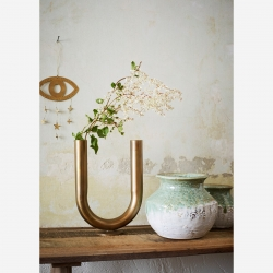 Vase métallique U