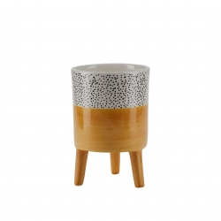 Petit pot céramique / Jaune