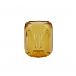 Photophore en verre / Yellow