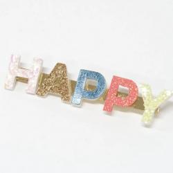 Barrette pailletée Happy