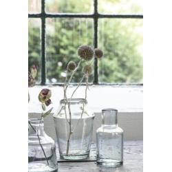Vase conique en verre soufflé