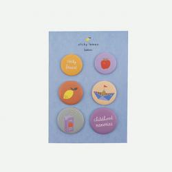 Set de badges Sticky Lemon