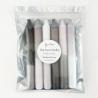 Set de 6 bougies / Shades of grey