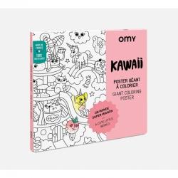 Poster à colorier Kawai