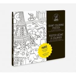 Poster à colorier Paris
