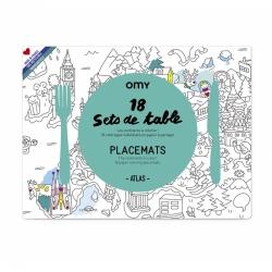 Sets de table à colorier / Atlas