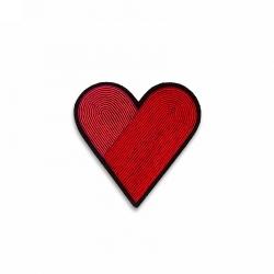 Broche Grand Coeur bicolore
