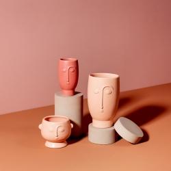 Vase visage terracotta