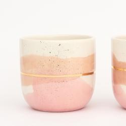 Tasse Latte Marinski / Tons roses